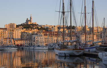 Port of Marseille at dusk - French Riviera