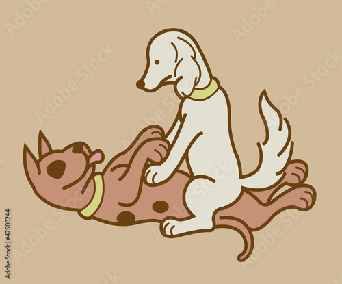 Making love position 3, Erotic couple dogs version