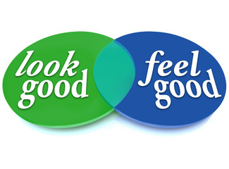 Look and Feel Good Venn Diagram Balance Appearance vs Health