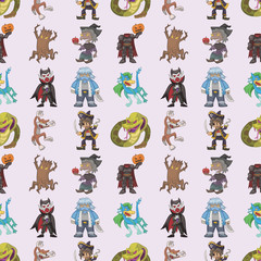 seamless story villain pattern