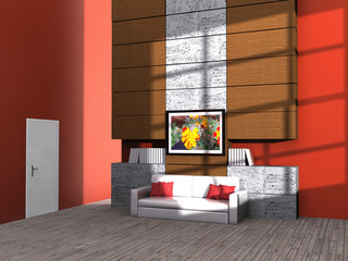 Design Couch in a modern room
