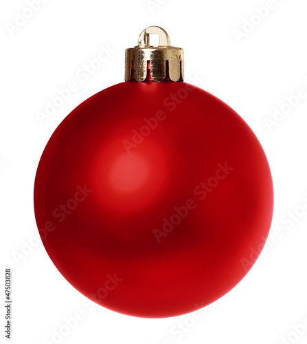 Red Bauble isolated clipping path