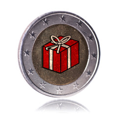 Geschenk Euro münze