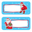 christmas labels with santa claus