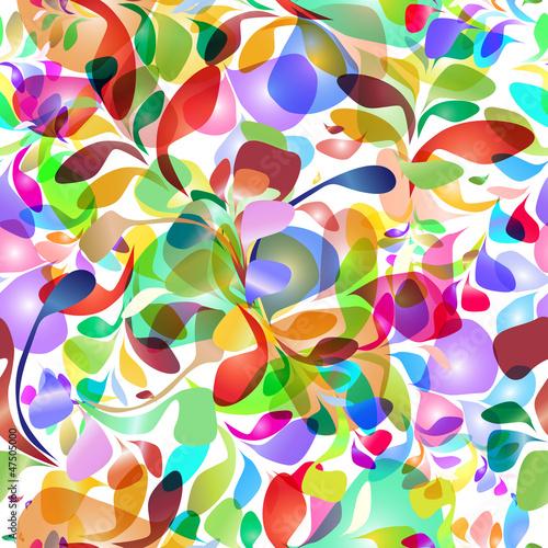 Jednolite wzór z kolorowych pociągnięć pędzla