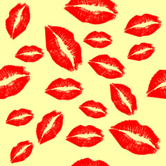 Red lips background