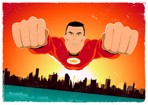 Keuken foto achterwand Superheroes It's A Bird ! - Flying Super Hero