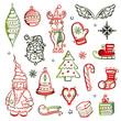 Weihnachten, Nikolaus, Advent, christmas vector set