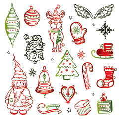 Weihnachten, Nikolaus, Advent, christmas vector set