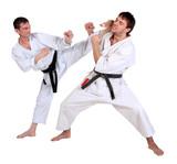 Fototapety Karate. Men in a kimono with a white background