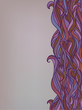Seamless Abstract Hand-Drawn Violet Pink Red Gray Pattern. Color