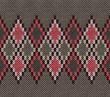 Seamless Gray Background of Color Knitted Wool Gingham Squares