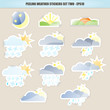 Peeling Weather Stickers - Set Two