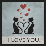 Love card cat