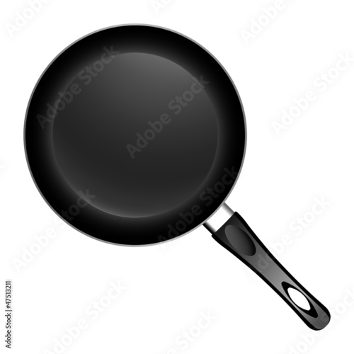 Pan on white background. Vector illustration