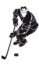 Hockeyspieler, Silhouette