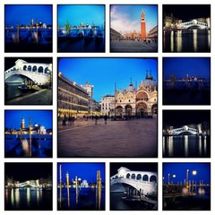 Venice by night - Collage