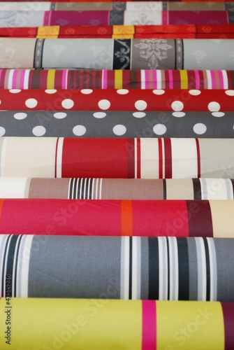 Colorful fabric of Provence background