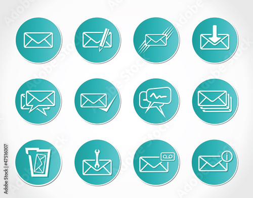 Set of web Email Icons
