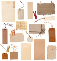 various note tags or address labels