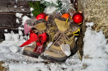 Nikolaus Schnee Schuhe Weihnachten