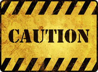 Caution Warning Sign