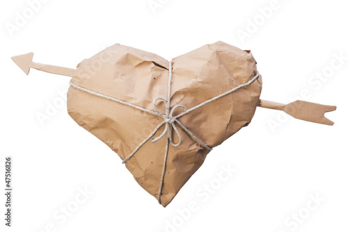 Heart with arrow packed