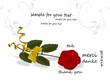 Grußkarte Rose,  Danke