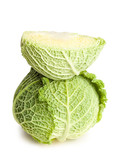 Fresh ripe  cabbage.