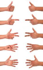 Numeri con le mani