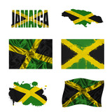 Jamaican flag collage