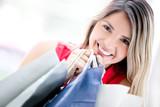 Beautiful female shopper
