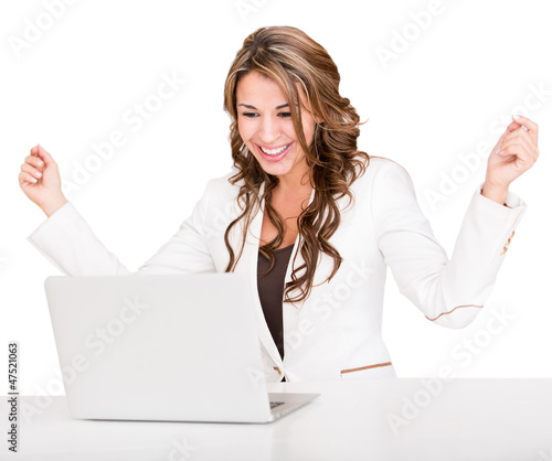Succesful businesswoman with a laptop