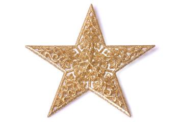 Gold glittery star