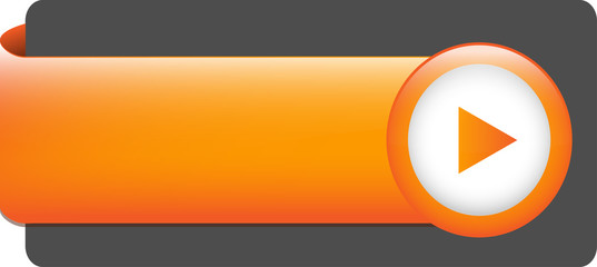 BLANK web button (rectangular orange icon arrow)