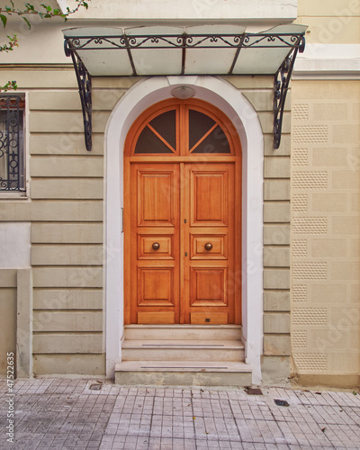 elegant house door, Athens Greece