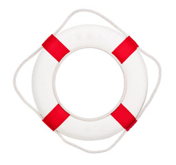 Lifebuoy, isolated on white
