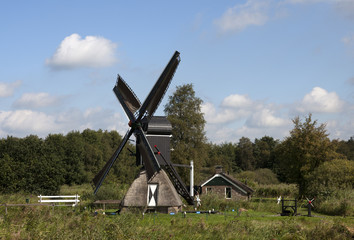 old traditional dutch windmill