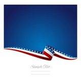 American flag ribbon abstract color background vector
