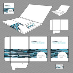 Folder design template. Design of a cut.