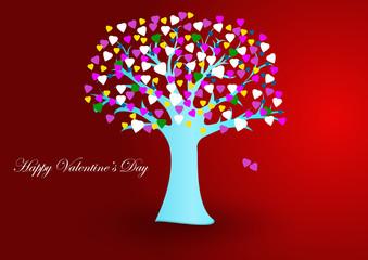 Albero San Valentino vector