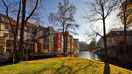 Blick auf die Kanäle von Erfurt
