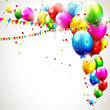 Modern colorful birthday background