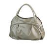 Luxury gray fashion handbag.