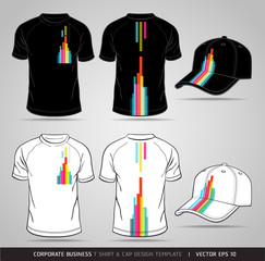 Corporate Identity Business Set. T-shirt and cap Design Template