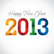 New Year Greeting Card 2013