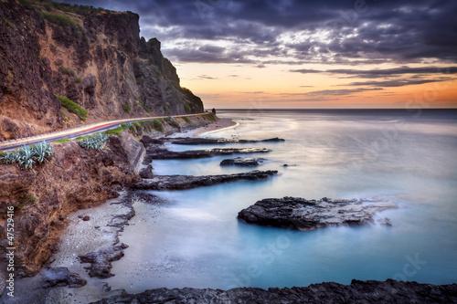 Crépuscule au Cap Lahoussaye - La Réunion
