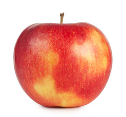 Red juicy apple isolated on white background