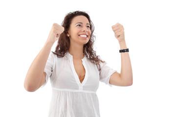 Frau - überglück vor Freude