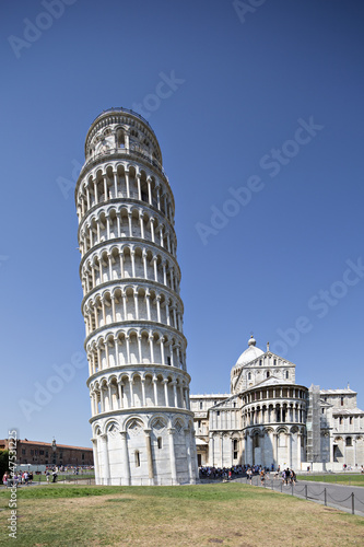 Leaning Pisa Tower and Cathedral